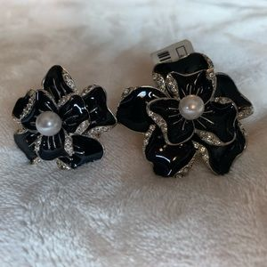 Charming Charlie's matching black and silver rings